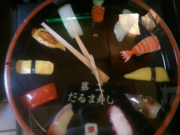 寿司の時計